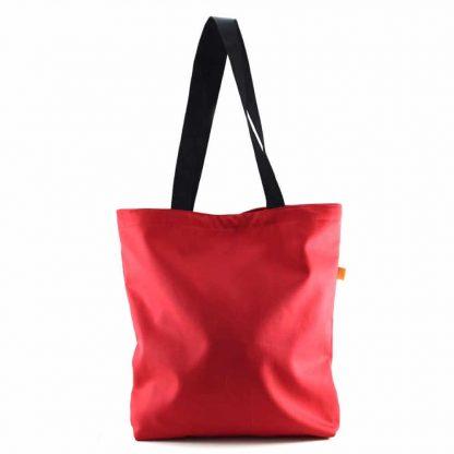 Piros kislányos festett táska