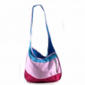 Rózsaszín-kék pillangós hobbi táska