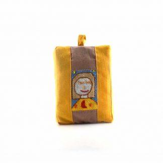 Sárga-barna lányos pikk-pakk táska