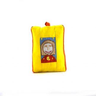 Sárga lányos pikk-pakk táska