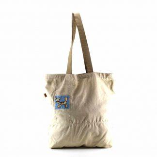 Drapp cicás bevásárló táska