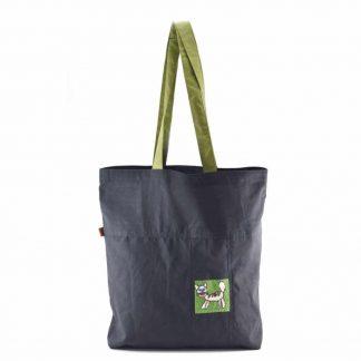 Fekete cicás bevásárló táska