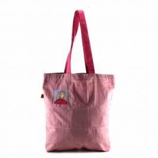 Ciklámen lányos bevásárló táska