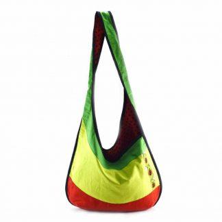 Zöld-piros katicás hobbi táska