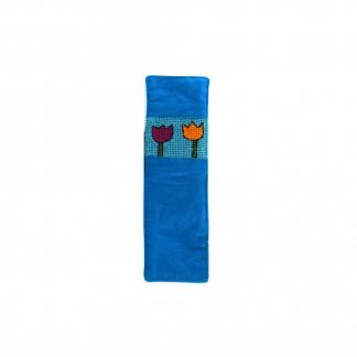 Kék tulipános könyvjelző