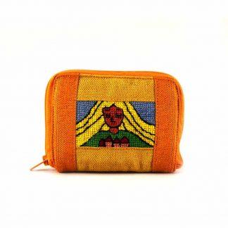 Sárga lányos pénztárca
