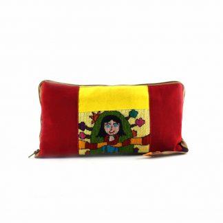 Piros-sárga lányos pikk-pakk hátizsák