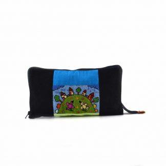 Fekete házsoros pikk-pakk hátizsák