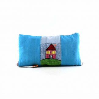 Kék házas pikk-pakk hátizsák