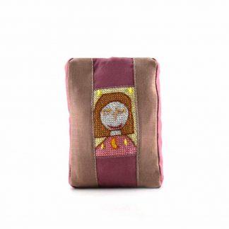 Ciklámen-barna lányos pikk-pakk táska
