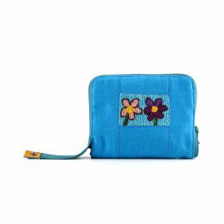 Kék virágos pikk-pakk táska