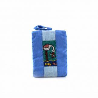Világoskék halászmadaras pikk-pakk táska