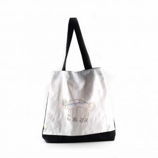 Fekete-fehér cicás festett táska