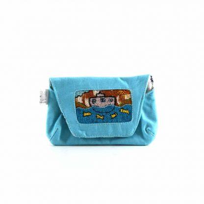 Kék hajós papírzsebkendő tartó