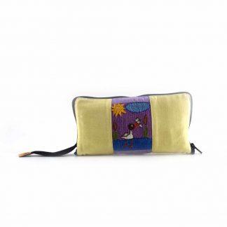 Sárga madaras pikk-pakk hátizsák