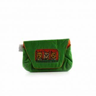 Zöld baglyos papírzsebkendő tartó