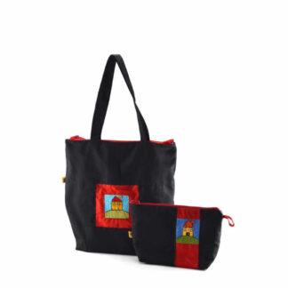 Fekete házas táskás ajándékcsomag