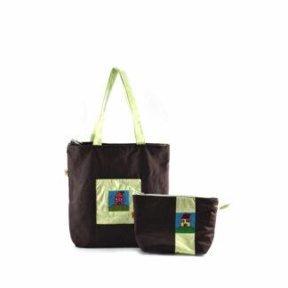 Barna házas táskás ajándékcsomag
