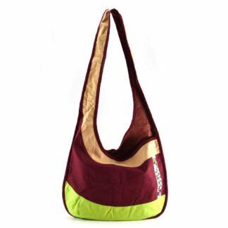 Bordó-színes ágas-madaras hobbi táska