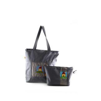 Szürke házas táskás ajándékcsomag