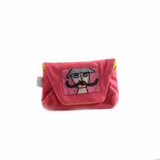 Rózsaszín bajuszos papírzsebkendő tartó