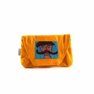 Narancs legényes papírzsebkendő tartó