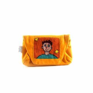 Narancs fiús papírzsebkendő tartó