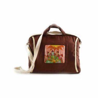 Barna házsoros notebook táska