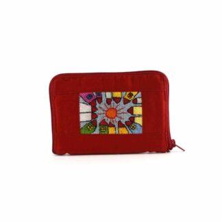 Piros házas-napos pénztárca